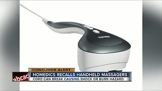 Homedics recalls massagers due to electric shock, burn hazards - Video