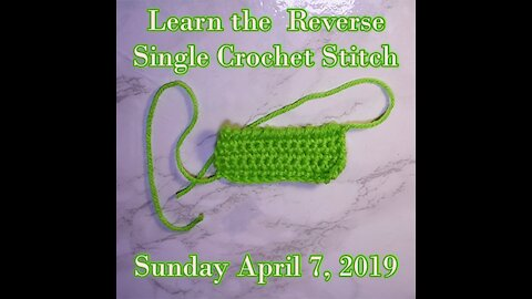 Reverse Single Crochet Stitch a.k.a the Crab Stitch