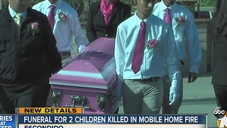 Funeral for 2 children killed in mobile home fire - Video