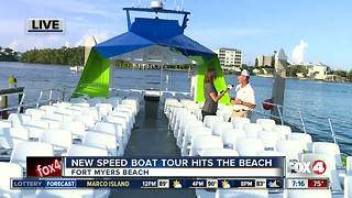 New speed boat tour hits Fort Myers Beach - 7am live report - Video