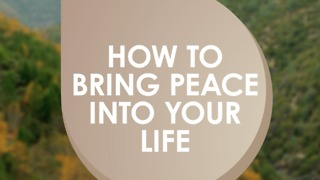 Live a peaceful life - Video