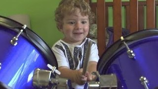 Self-Taught 2-Year-Old Drummer Has Amazing Talent - Video