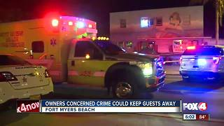 Surveillance video captures stabbing on Fort Myers Beach - Video