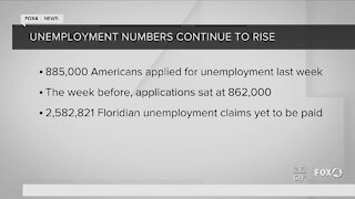 Unemployment numbers continue to rise