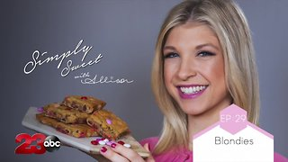 Simply Sweet Valentine's Day Blondies