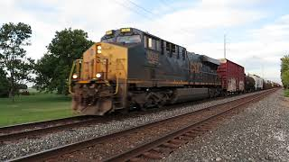CSX Manifest Mixed Freight Train from Bascom, Ohio August 29, 2020
