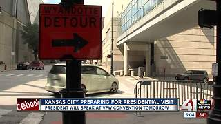 KC prepares for visit from President Trump