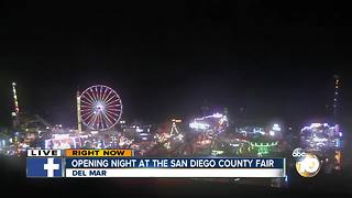 Opening night at the San Diego County Fair - Video