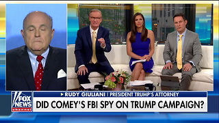 Giuliani Confirms: I'm Shocked About FBI Spy in Campaign