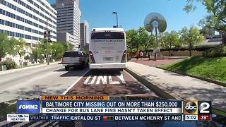 Baltimore losing thousands in parking fines - Video