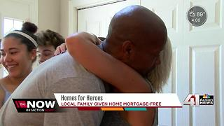 Wounded veteran receives mortgage-free home