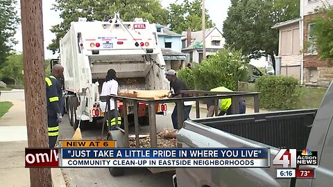 Community clean up in Eastside neighborhood