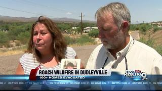 Brush fire burning in Dudleyville in Pinal County - Video