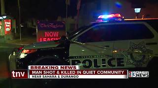 Man shot and killed in quiet community - Video