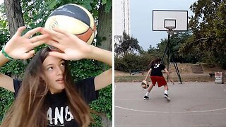 TALENTED TEEN PERFORMS MESMERIZING BASKETBALL FREESTYLE TRICKS