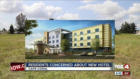 Residents concerned about new hotel
