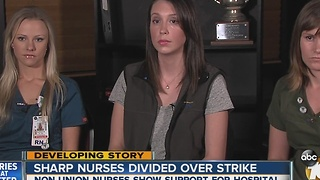 Some Sharp non-union nurses show support for hospital - Video