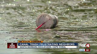 Cape neighbors ask for canal cleanup - Video