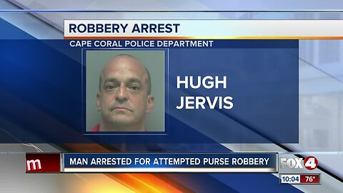 Attempted purse thief arrested in Cape Coral