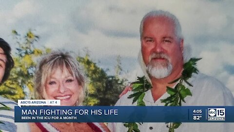 Tempe woman shares how husband continues to battle COVID-19 in the ICU