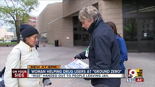 Woman helps drug users at