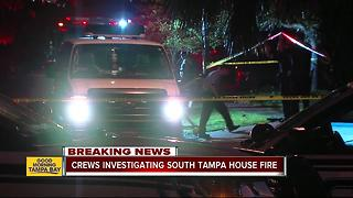 Arson Task Force investigating cause of fire which damaged South Tampa home - Video