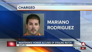 Maintenance Worker Accused of Stealing Watch - Video