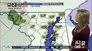 Maryland's Most Accurate Forecast - Snowy Friday Afternoon - Video