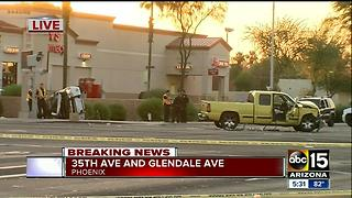 Officer in serious condition after west Phoenix rollover