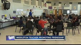 Music teacher raising money for 'Buddy Benches' - Video