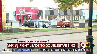 Fight leads to double stabbing - Video