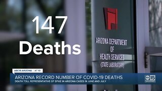 Arizona record number of COVID-19 deaths