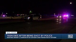 Teen shot by Chandler police has died