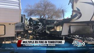 Four families displaced after RVs catch fire in Tombstone - Video