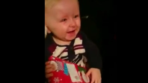Gift-Opening Sent Baby Into Contagious Fit Of Giggles