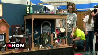 Students unveil machines in Rube Goldberg competition - Video
