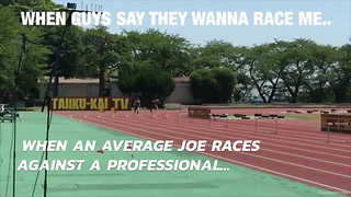 Watch When An Average Joe Races Against A Professional - Video