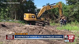 Construction worker killed after being struck by backhoe in Clearwater