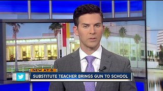 Substitute elementary school teacher removed from campus after bringing gun to school