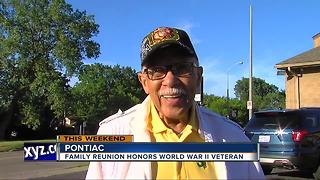 World War II veteran honored at family reunion - Video