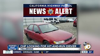 CHP looking for hit-and-run driver in Fallbrook