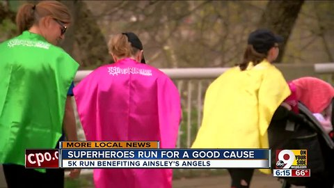 Superheroes run for a cause