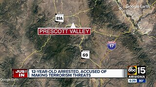12-year-old arrested, accused of making terrorism threats