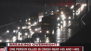 1 killed in crash on I-65 as part of icy conditions - Video