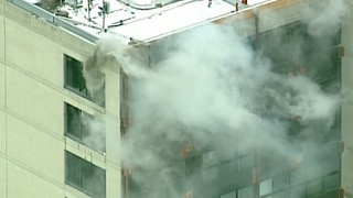Fire reported at 555 Building in Birmingham - Video