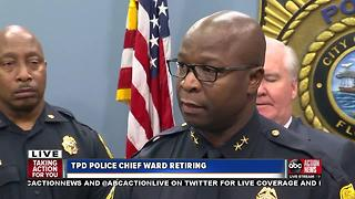 Tampa Police Chief Eric Ward has announced his retirement