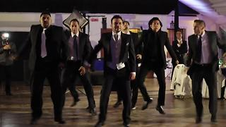Groomsmen Surprise Bride With Detailed NSYNC Group Dance - Video