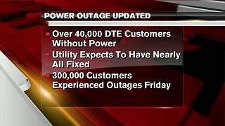 Power restoration efforts continue following high winds