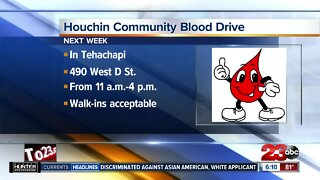 Houchin Community Blood Drive in Tehachapi