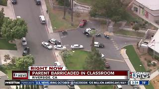CA Elementary school evacuated after parent barricaded in classroom - Video